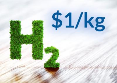 1 USD za kg zielonego paliwa wodorowego?